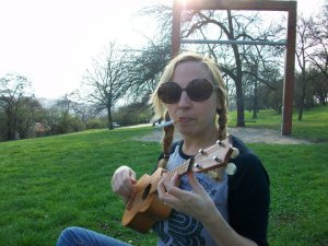 looking like a badass with Darth Vader - my ukulele