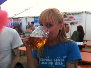Me at the Prague Beer Festival - 2011