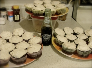 My Dr. Pepper Cupcakes