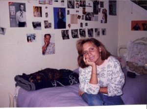 Me in my teenage bedroom.