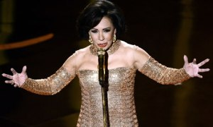 Shirley Bassey performs on stage at the Oscars