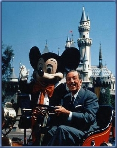 Walt Disney 13 with Mickey Mouse at Disneyworld