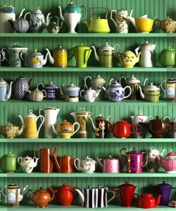 That's a lot of tea pots