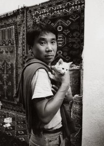 haruki murakami and kitten