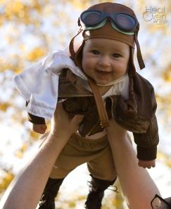 Amelia-in-costume-flying