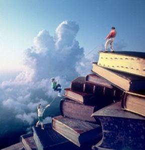 Children Climbing a Mountain of Books 1993
